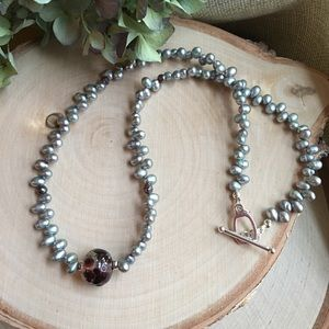 Jewelry - Lampwork Pearl Necklace